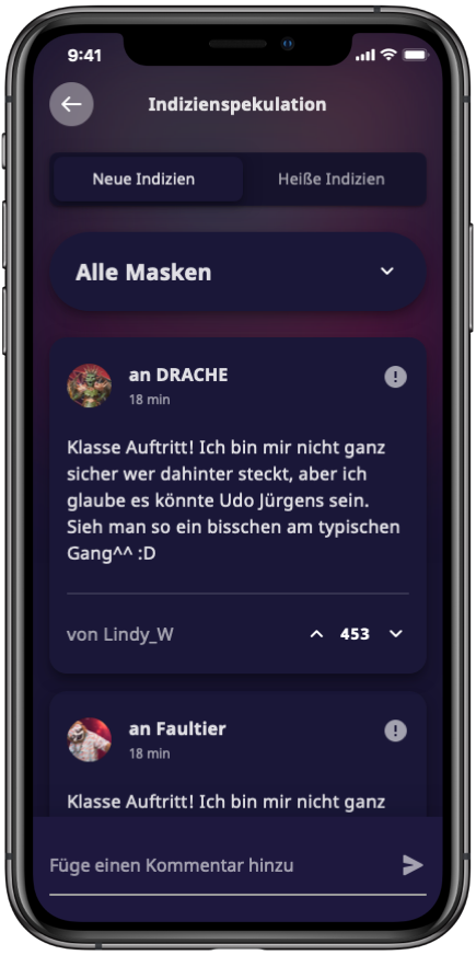 3000 Masked-Singer 01 Kommentare Overview Mobile